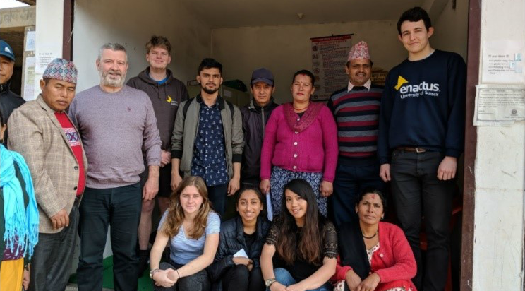 The Project 36 team with locals in Tanahun, Nepal. Chris Youngman - far right.