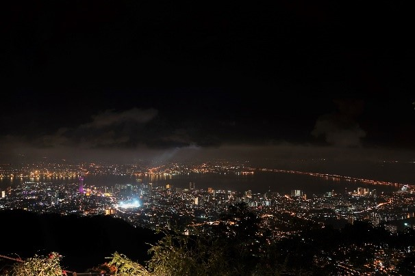 A view of Penang from Penang Hill.