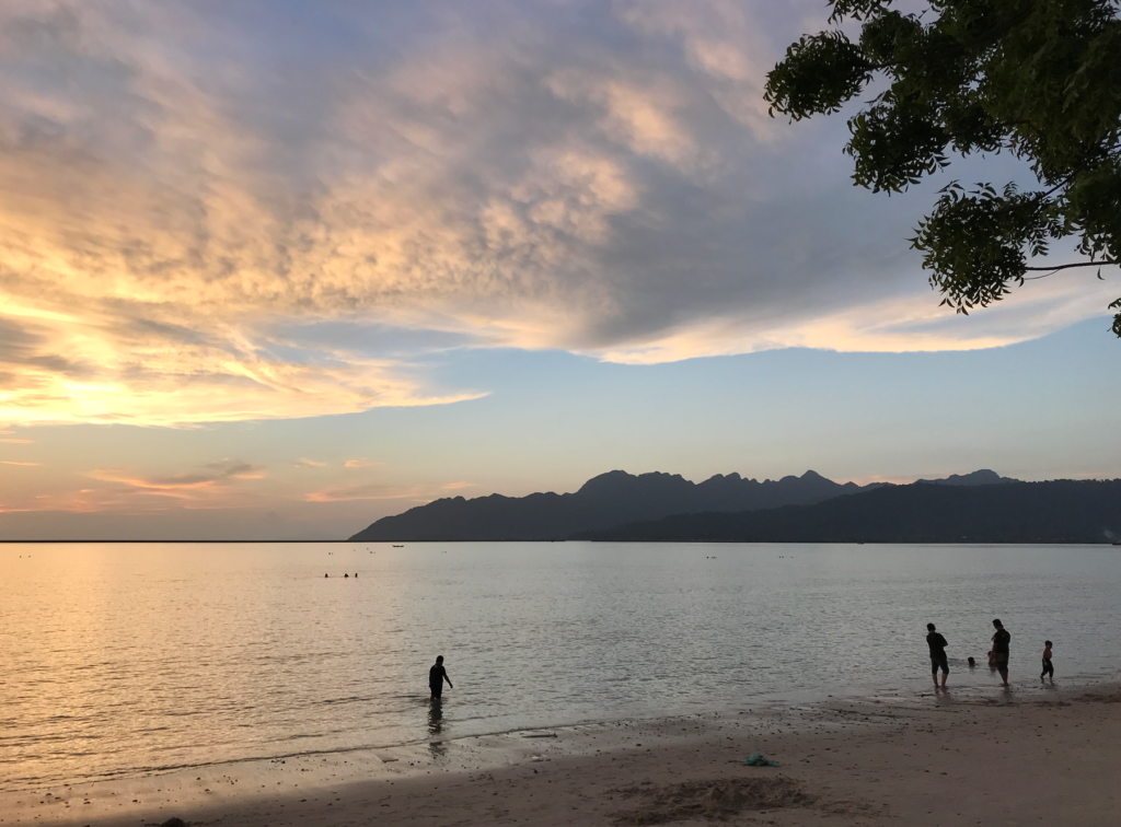 Interns' spectacular sunset observation at Tanjung Rhu beach
