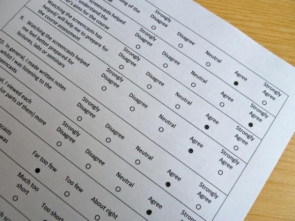 Questionnaire sheet