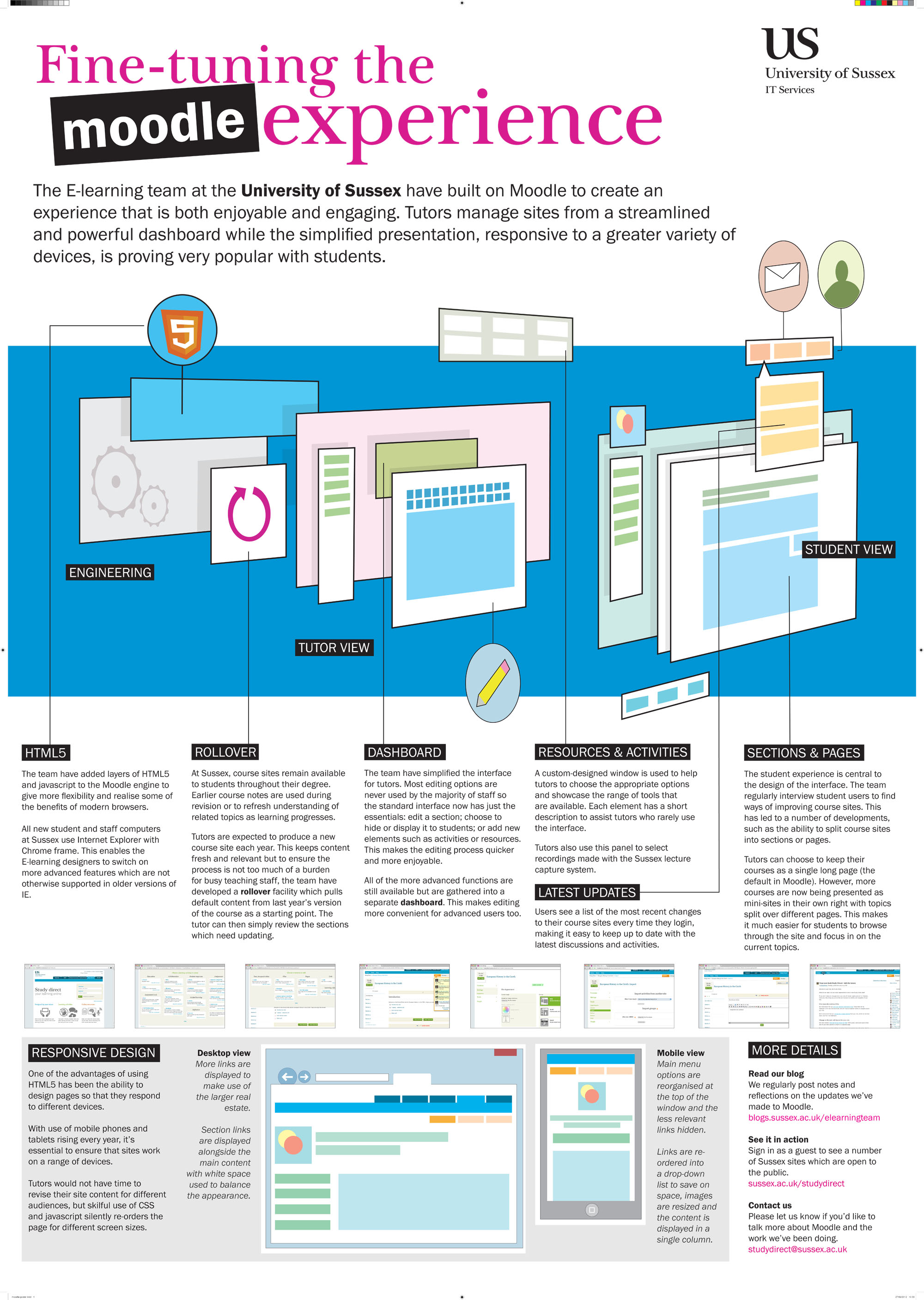 E learning poster designs - Larger Version