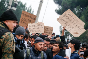 Non-SIA asylum seekers denied entry Macedonia