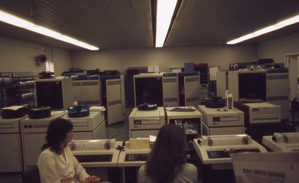 The machine room in 1982  with DEC VAX-11 computers.
