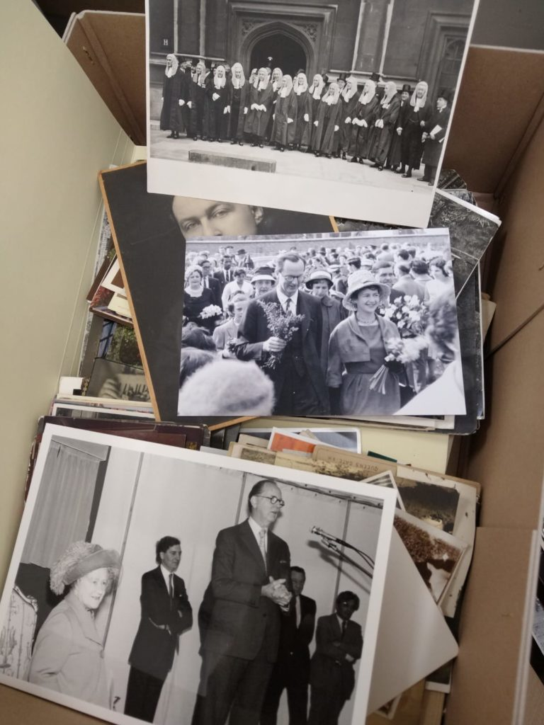 Image shows a collection of black and white photos from the Hutchinson archive