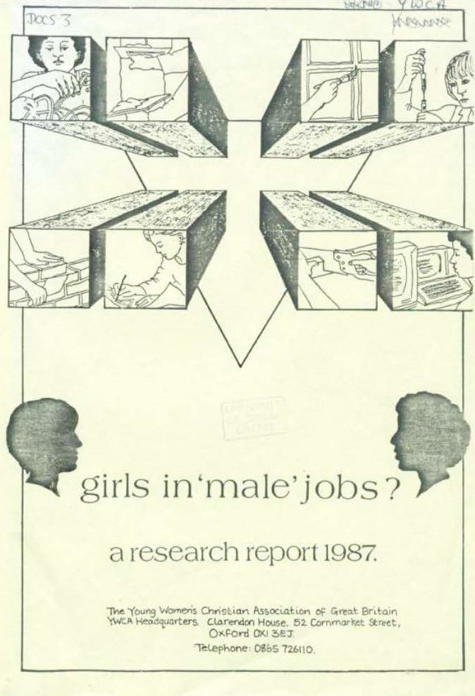 Photo of cover of 'girls in 'male' jobs?