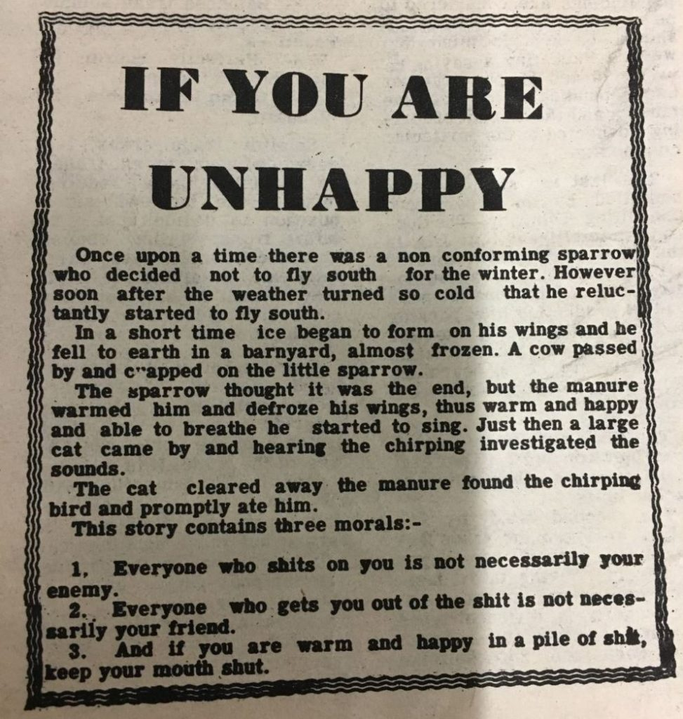 Image of article 'if you are unhappy'