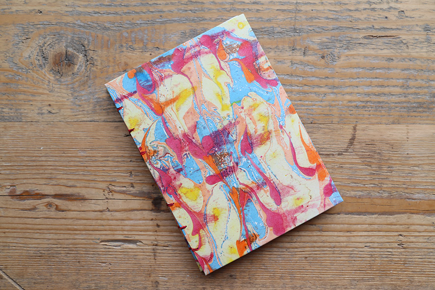 Marble paper covered notebook