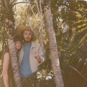 Colour photograph of Dannys parents in the Zambian jungle