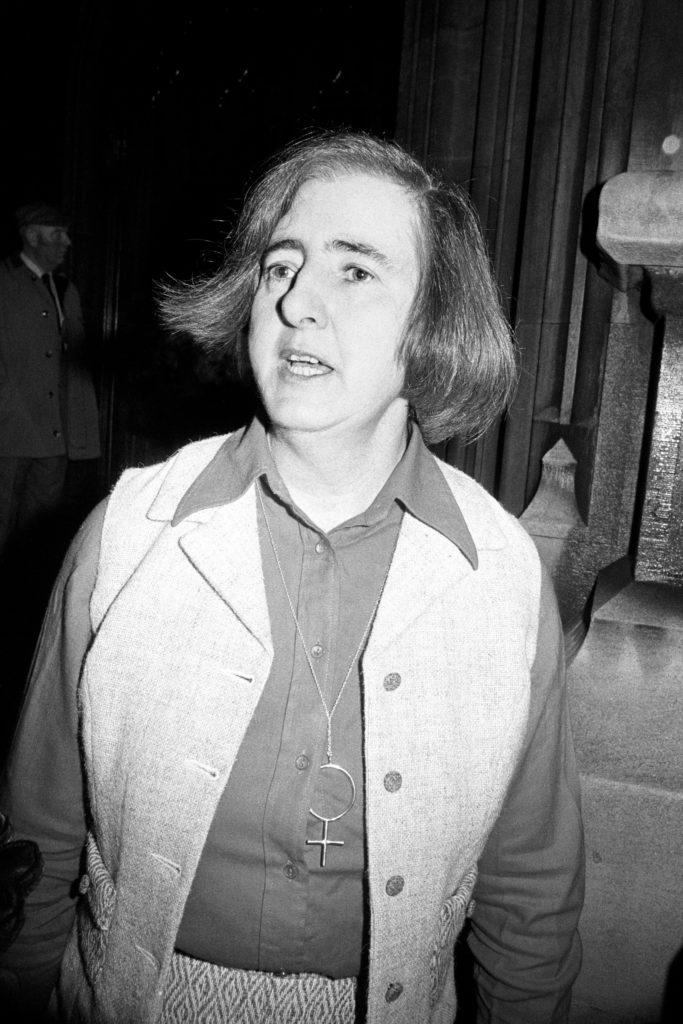 Black and white image of Maureen Colquhoun, 1978