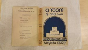 A Room of One's Own (Hogarth Press 1929) book jacket designed by Vanessa Bell from The Monks House papers, University of Sussex Special Collections at The Keep SxMs-18/5/191.