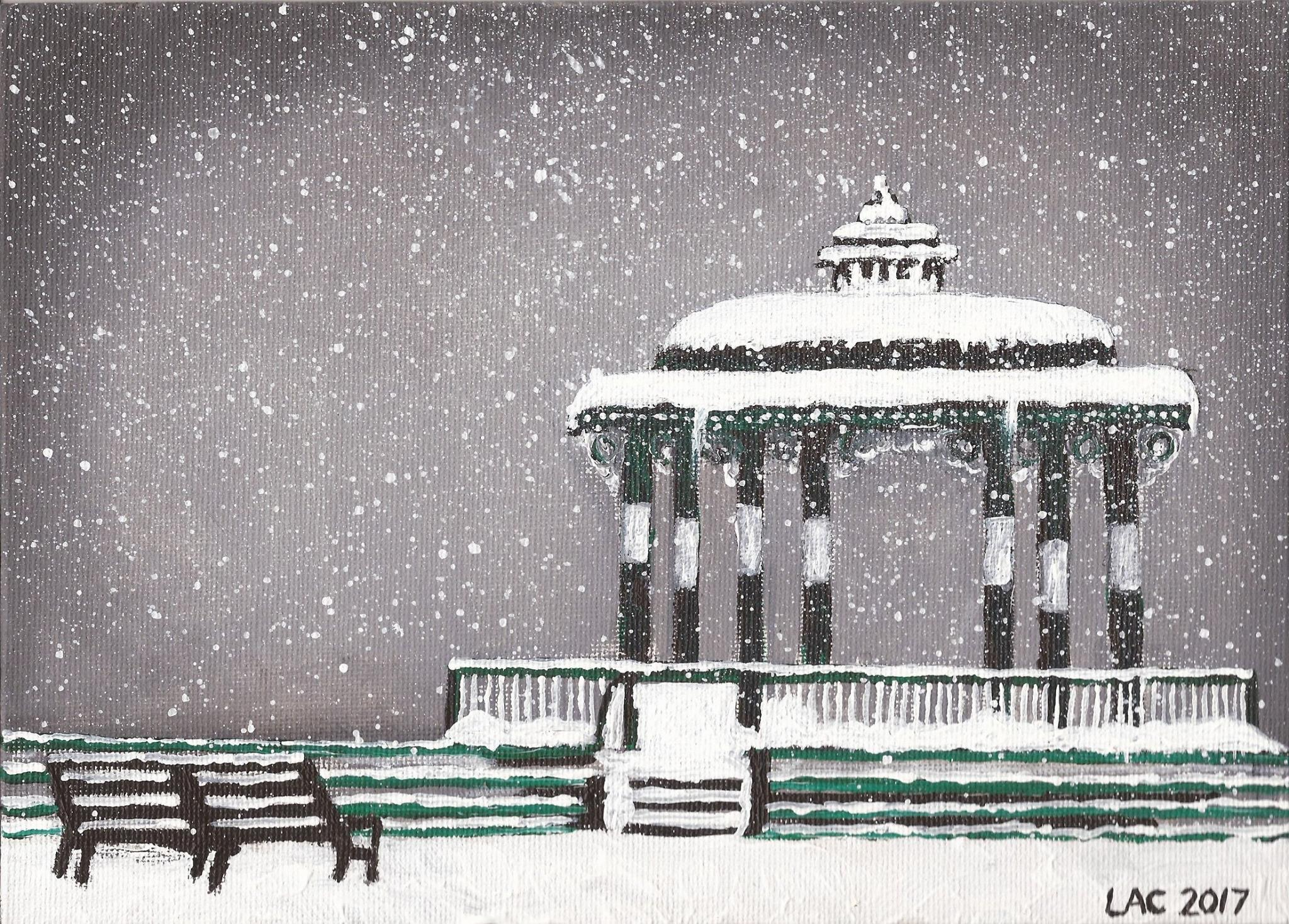 Painting of bandstand by Lindsay Crook