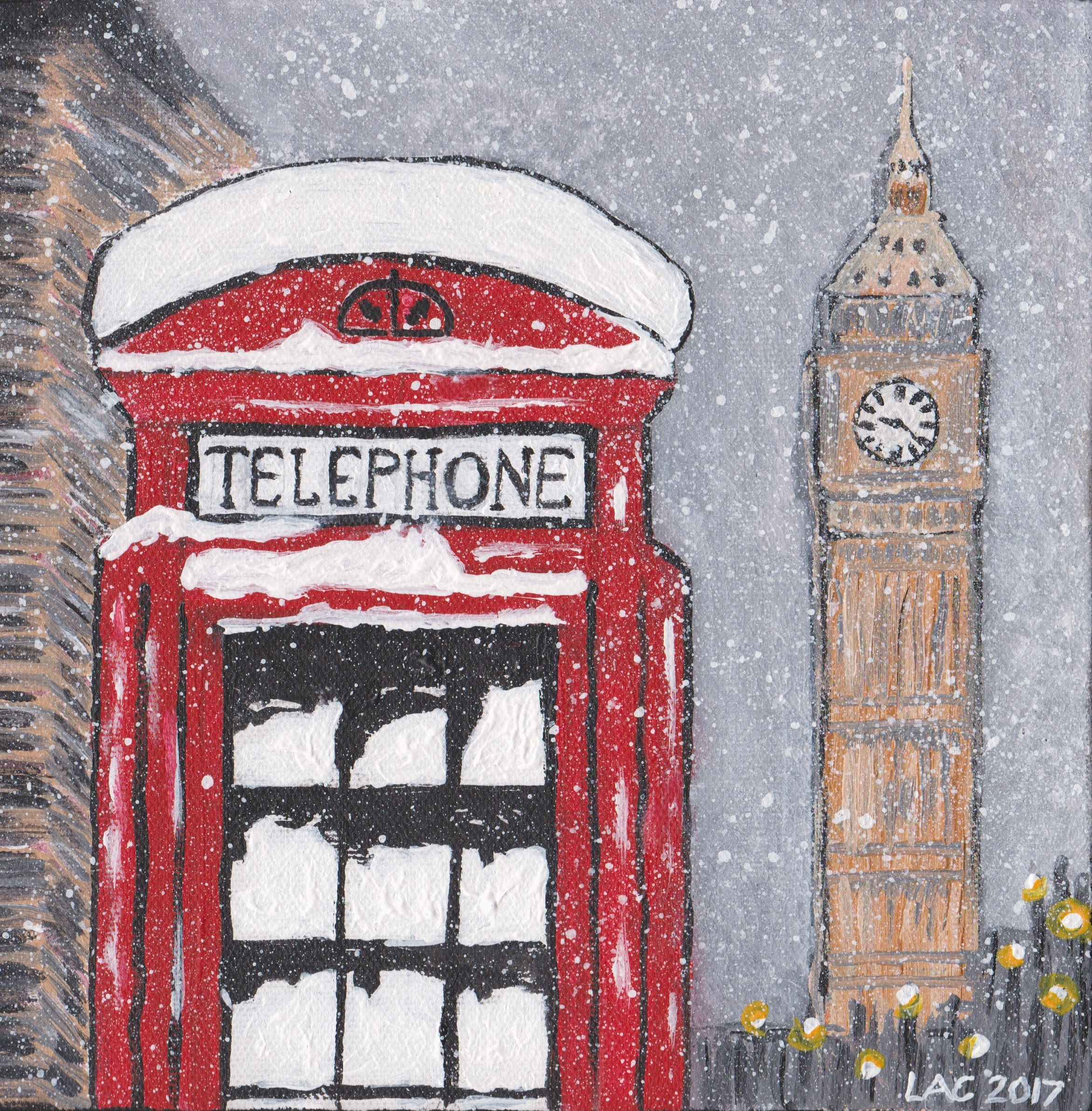 Painting of London by Lindsay Crook