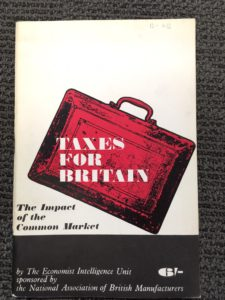 Taxes for Britain The impact of the Common market