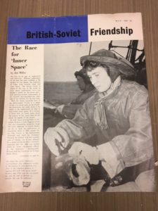This is an example from the Social Movements category. It is a pamphlet called British-Soviet Friendship