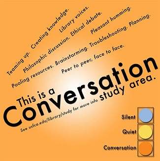 Conversation study area poster