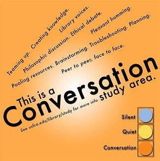 Conversation study area poster