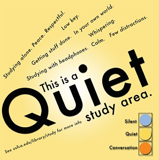 Quiet study area poster