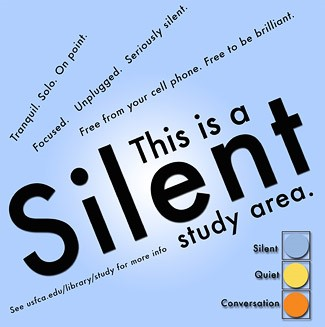 Silent study area poster