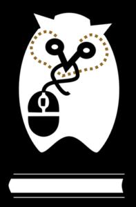 #1Lib1Ref logo of an owl
