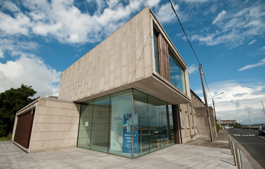 The outside of Baldoyle Library in Dublin, Ireland