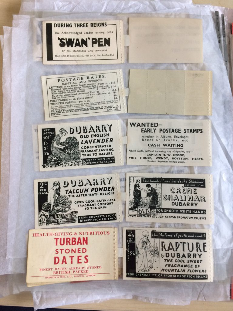 A selection of stamp adverts for Dubarry products