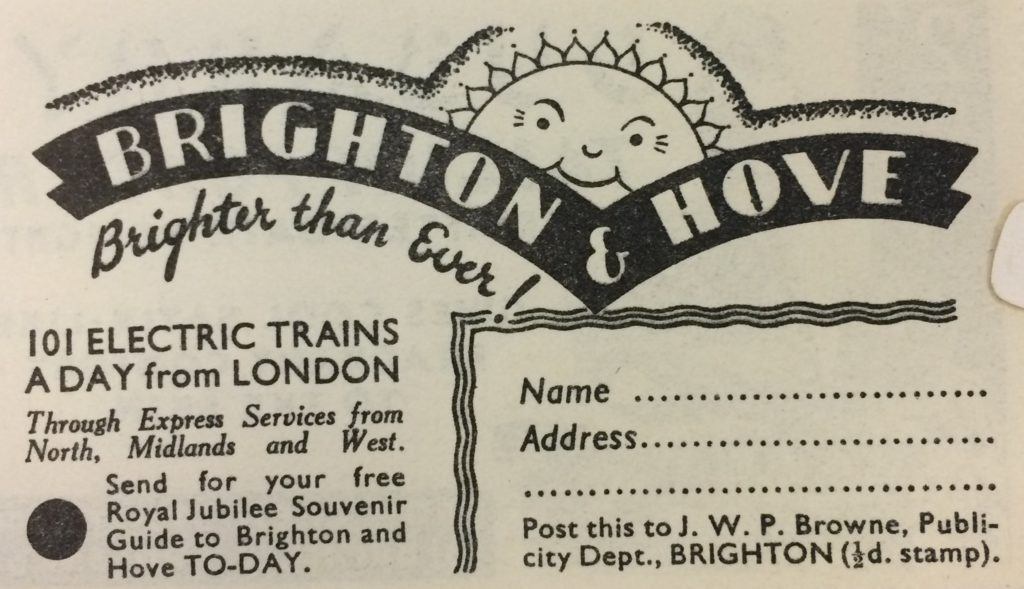 An advert for Brighton & Hove