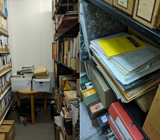 A picture of some BLDS archival material