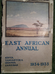 The front cover of East African Annual 1934-1935