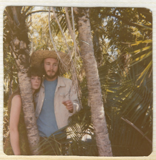 A man and a woman in the jungle
