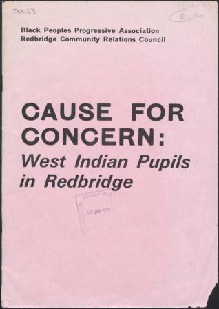 Cause for Concern - West Indian Pupils in Redbridge_page1_image1