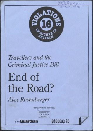 End of the road - Travellers and the Criminal Justic Bill_page1_image1