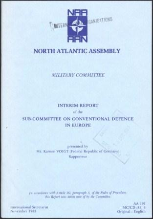 Interim Report of the Sub-Committee on Conventional Defence in Europe_page1_image1