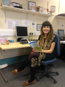 Amy Howes at her desk in the WS Eating Disorders Service