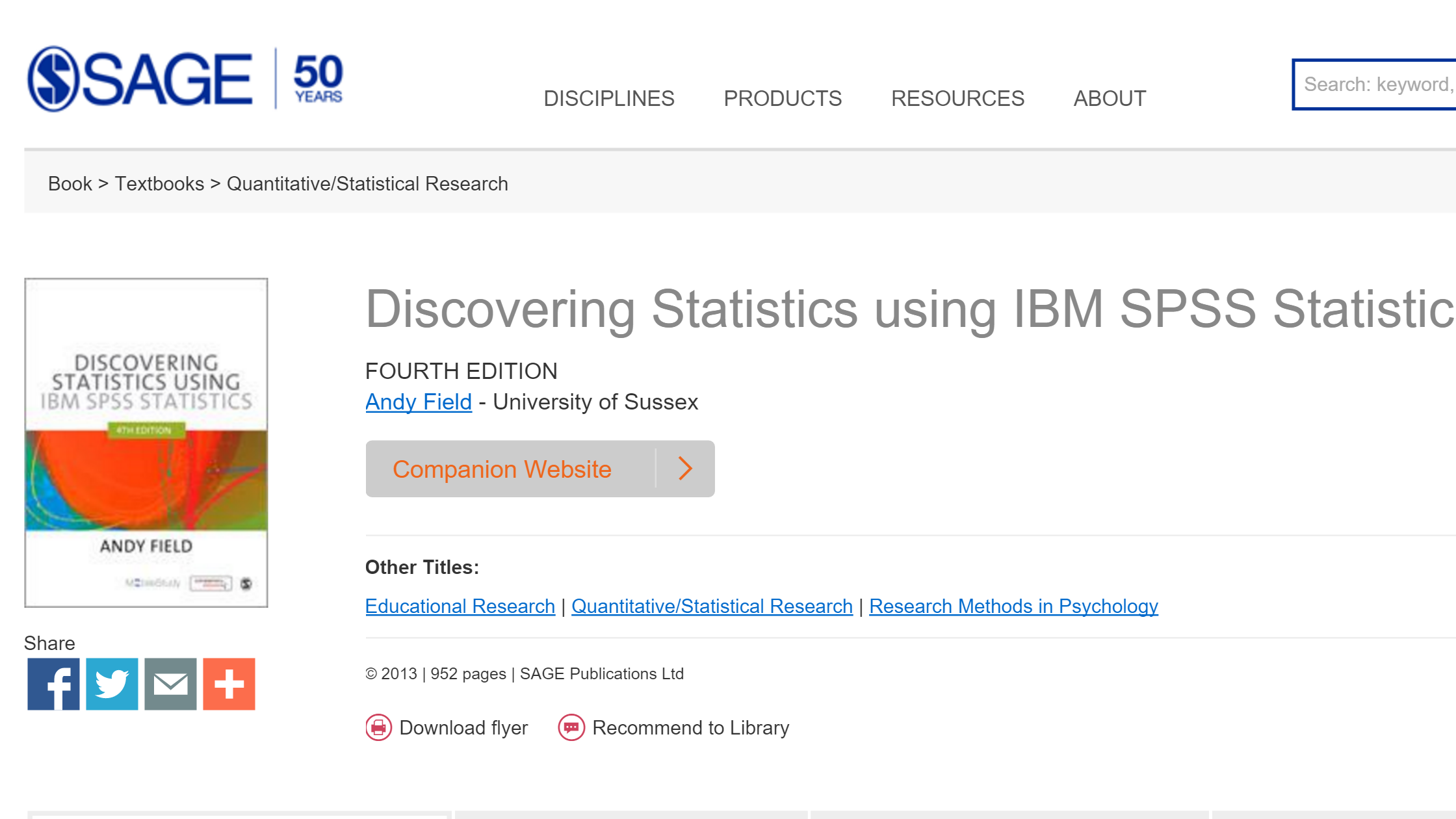 Discovering Statistics Companion Website