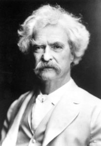 Marl Twain, 1907. (Photo by A.F. Bradley)