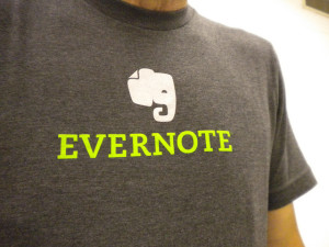 Evernote image on t-shirt
