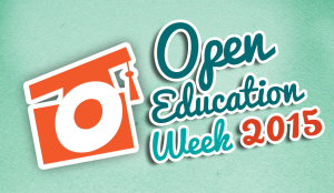 Open Education Week 2015 Logo - Blue BG