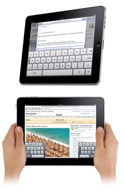 ipad keyboard in middle of screen Memory
