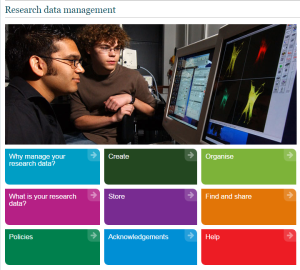 Research Data Management webpage