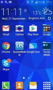 Screenshot of apps on phone