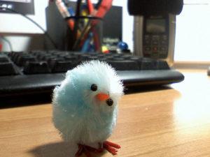 A photo of a handmade Twitter bird