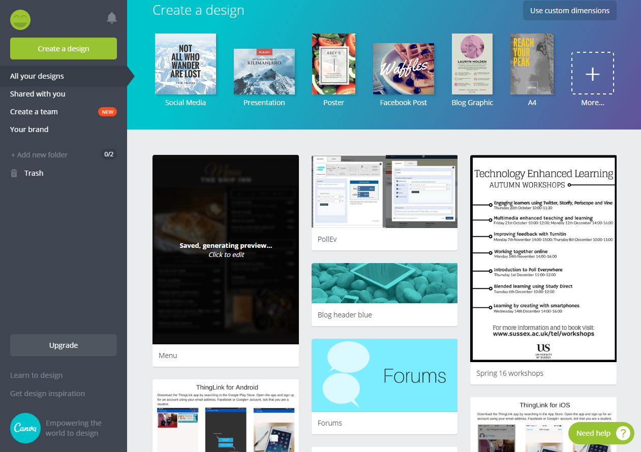 Introducing Canva: an accessible graphic design tool
