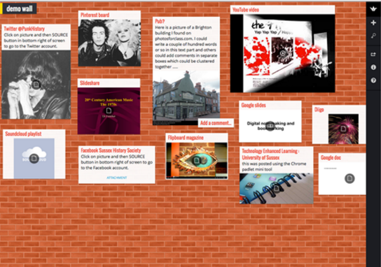 An image of a Padlet wall