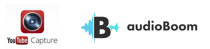 YouTube Capture logo and AudioBoom logo multimedia
