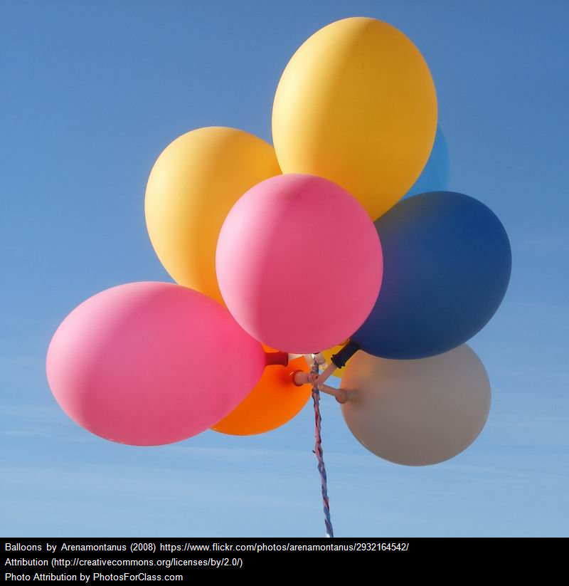 An image of balloons with embedded attribution (apps)