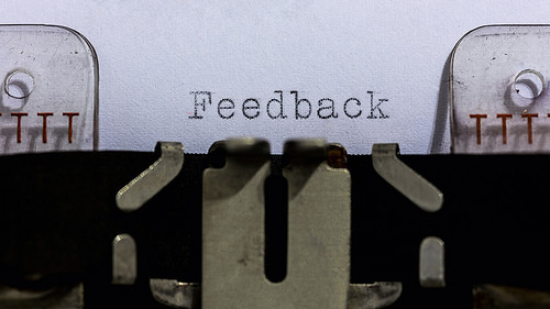 """Feedback"" flickr photo by Skley https://flickr.com/photos/dskley/15719784736 shared under a Creative Commons (BY-ND) license"