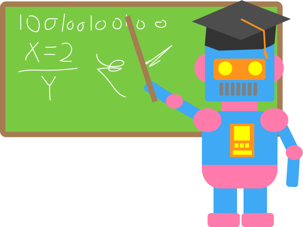 AI teacher - graphic by George Robinson