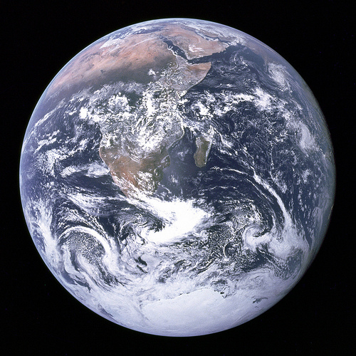 """Archive: The Blue Marble"" flickr photo by NASA's Marshall Space Flight Center https://flickr.com/photos/nasamarshall/8250851747 shared under a Creative Commons (BY-NC) license"