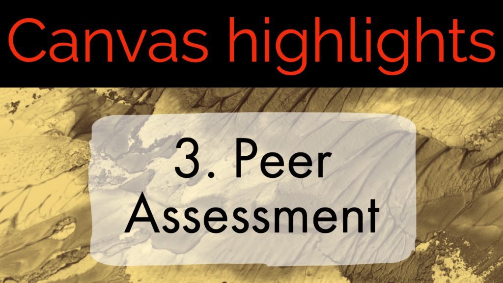 Canvas Highlights 3. Peer Assessment
