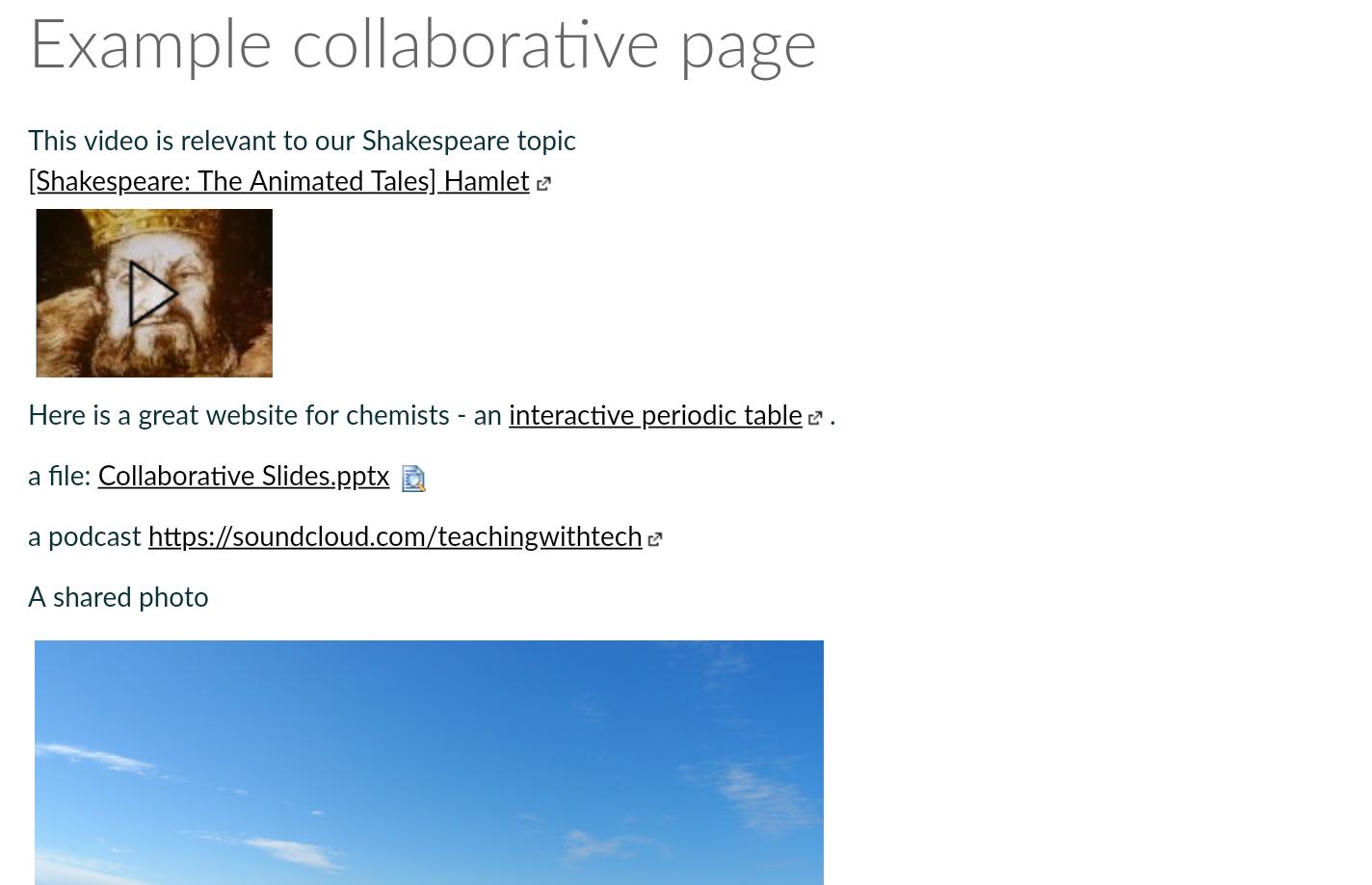 Canvas highlights 5: Collaborations - Technology Enhanced